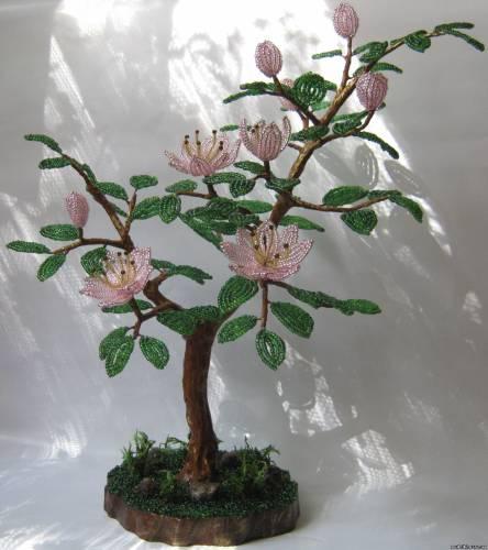 Описание: b Деревья и цветы из