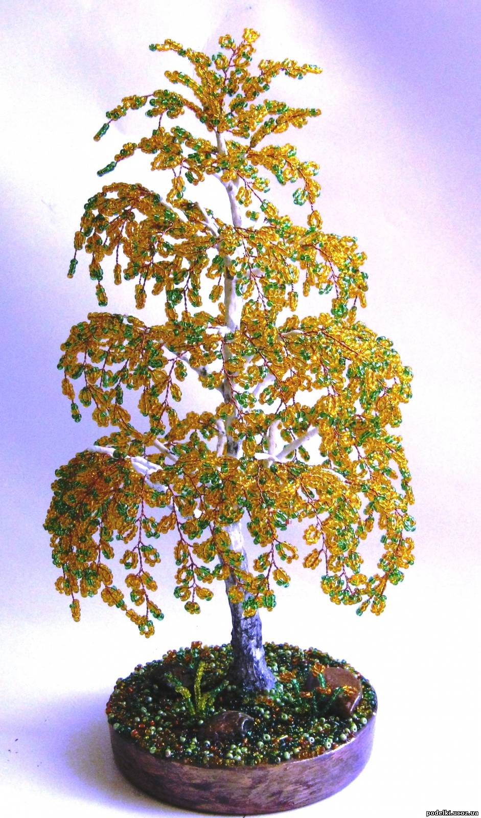 Плетение из бисера деревьев с пошаговым фото