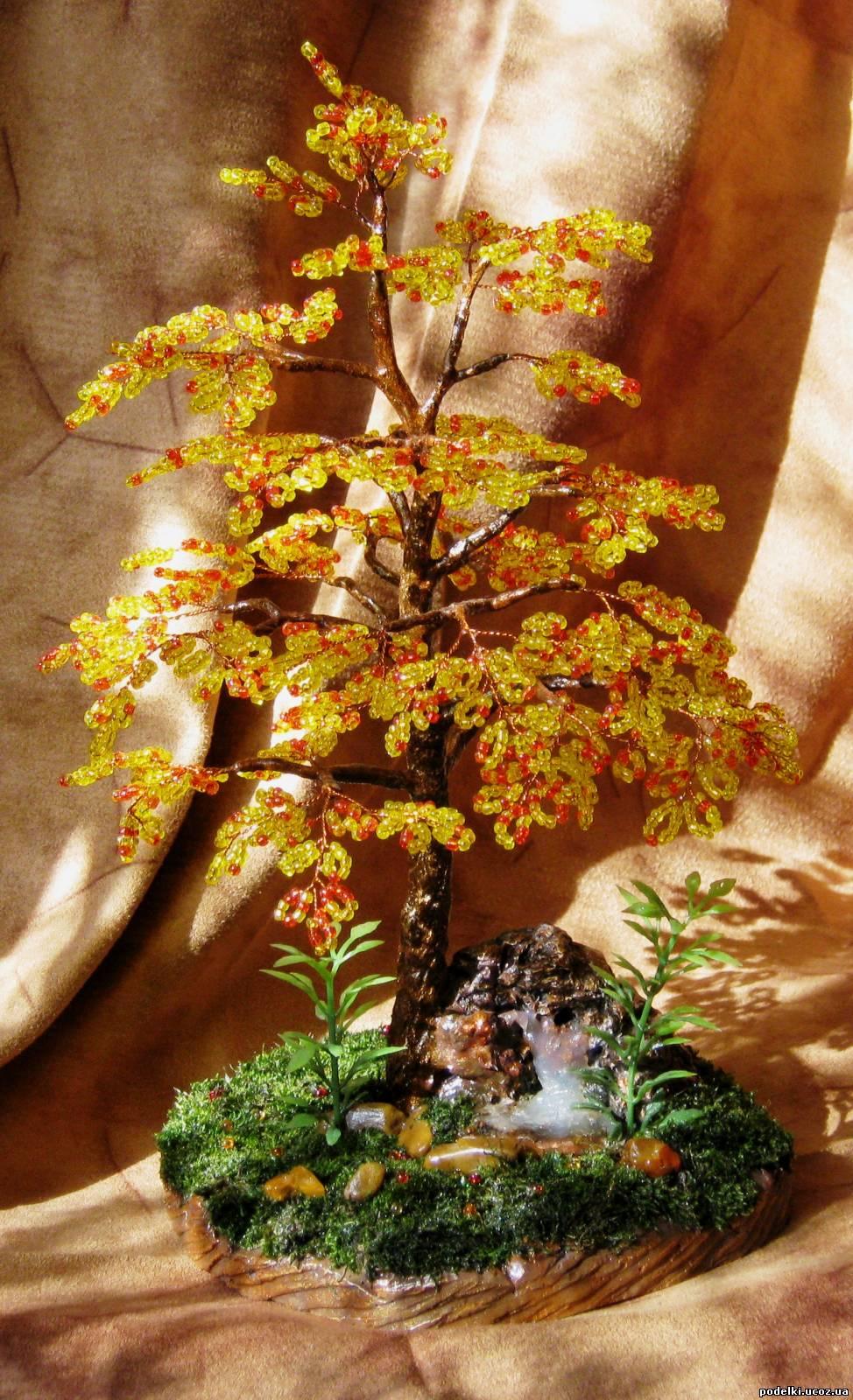 Деревья кусты из бисера фото