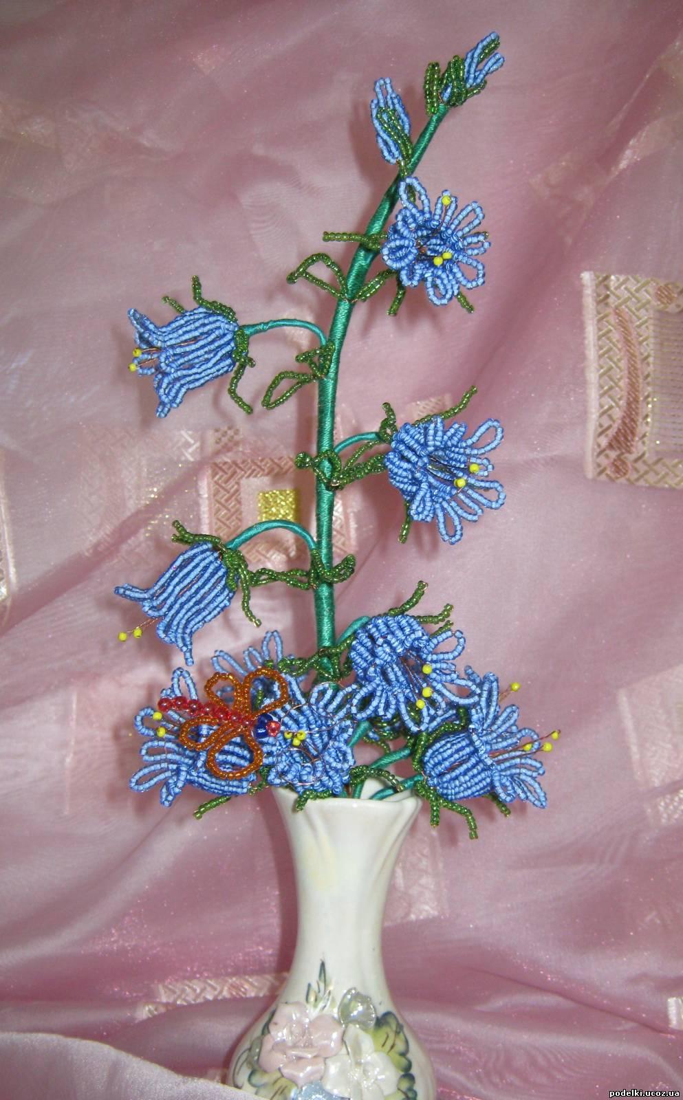 Цветы колокольчики из бисера своими руками